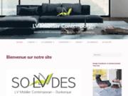 screenshot http://www.lv-mobilier-contemporain.com/ mobiliers ultra modernes et stylisés à dunkerque