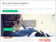 screenshot http://www.ma-carte-grise-en-ligne.fr Blog d'information sur la carte grise en ligne