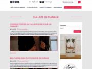 Créez votre site et liste de mariage en ligne