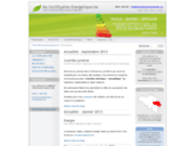 screenshot http://www.macertificationenergetique.be le certificat énergétique peb à liege