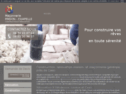 screenshot http://www.maconnerie-pinson-chapelle.com/ terrassement caen