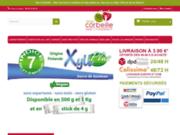 screenshot http://www.macorbeille.fr/ Produits bio en ligne