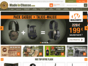 screenshot http://www.madeinchasse.com Fusils de chasse et leurs accessoires