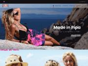 screenshot https://www.madeinpipa.com Made in Pipa, votre boutique de vêtements et accessoires inspirés du Brésil