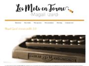screenshot http://www.magali-izard.fr/ magali izard, ecrivain public