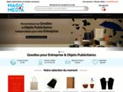 screenshot http://www.magic4media.com Objets publicitaires et cadeaux entreprises personnalisés