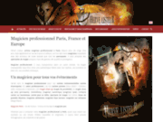 screenshot http://www.magicien-prestige.com magicien : spectacles de prestige