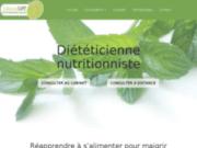 screenshot http://www.maigrir34.fr nutritionniste diététicienne basée sur montpellier