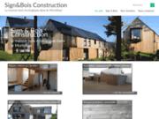 screenshot http://www.maison-design-bois.com construction de maison passive, bioclimatique et basse consommation dans le morbihan