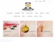 screenshot http://www.maisondelor.fr la maison de l'or fabricant bijoutier joaillier