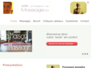 screenshot http://www.maisondumassage.be la maison du massage
