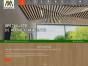 screenshot http://www.maisons-bois-landes.com charpentier dax, landes