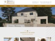 screenshot https://www.maisons-du-blaisois-41.com/ constructeur de maisons individuelles personnalisées