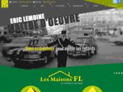 screenshot http://www.maisonsfl.com maison ossature bois à Thouars 79