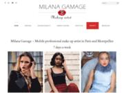 screenshot https://www.makeupbymilana.fr Milana - Maquilleuse professionnelle à domicile Paris et IDF - 7j/7