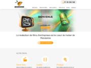 screenshot http://www.mandarine-audiovisuel.com/ film entreprise, film institutionnel