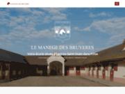 screenshot http://www.manege-des-bruyeres-60.com stages d'équitation organisés dans l'oise