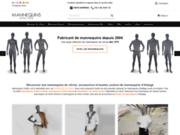 screenshot http://www.mannequins-online.com/ Mannequins pour vitrine
