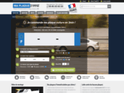 screenshot http://www.maplaquedimmat.fr Plaques d'immat