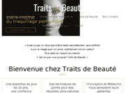screenshot http://www.maquillage-tatouage-permanent-paris.com maquillage permanent - traits de beauté - paris