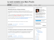 screenshot http://www.marcpoulin.ca Web rentable