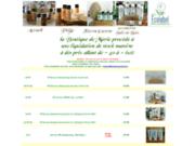 screenshot http://www.Marie-Boutique.fr la boutique de marie produits d'accueil