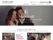 screenshot https://www.marie-coiff-03.com salon de coiffure à Chamblet 03170
