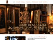 screenshot http://www.marie-la-varande.com atelier marie la varande, sculpture et dessin