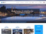 screenshot https://www.marina-de-paris.com restaurant péniche