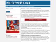 screenshot http://www.marionnette.biz spectacles de marionnettes