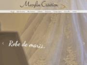 screenshot http://www.marylin-creation.fr robes de mariée, robe de mariage, marignane aix en provence