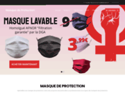 screenshot https://masque-de-protection.com/ Masque de protection