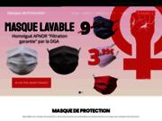 screenshot https://masque-de-protection.com/ Masque de protection