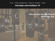 screenshot http://www.massage-ayurvedique-34.com/ ateliers de massage ayurvédiques, hérault 34