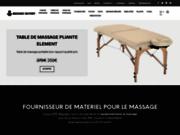 screenshot http://www.massagefactory.eu table de massage