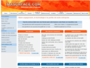 MaSurface.com - Création site ecommerce