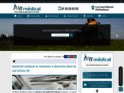 screenshot https://www.materiel-medical-val-d-oise.fr/ AB Médical Bouffémont