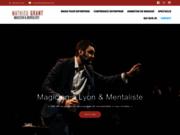 screenshot https://mathieugrant.com Mathieu GRANT Magicien à Lyon pour vos soirées, mariages et entreprises