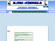 maths-sciences.fr : Maths & Sciences en LP