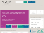 screenshot http://www.mayor-sante.com formation santé