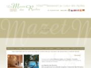 screenshot http://www.mazetsdesroches.com hôtel mazets des roches à tarascon