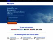 screenshot http://www.mceexpress.fr transport routier - mce express