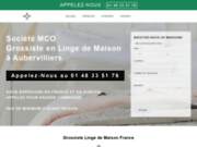screenshot https://www.mco-grossiste.fr/ linge de maison