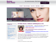 screenshot http://www.medecin-esthetique-visage.com/ Injections de botox, acide hyaluronique, lèvres