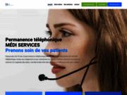 screenshot http://medi-services.fr service de permanence téléphonique et secrétariat