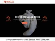 screenshot http://www.memolux.fr Moulage d'empreinte en plâtre 3D