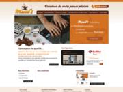 screenshot http://www.mends.fr distribution de machine à café