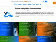 screenshot http://www.mercantour-roya.com bureau des guides du mercantour roya