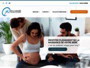 screenshot http://www.mereetmonde.com cours prénataux, accompagnantes à la naissance : centre de maternité mère et monde