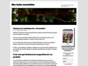 screenshot http://www.meshuilesessentielles.fr huiles essentielles